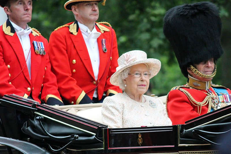Queen Elizabeth II at Trooping the Colour